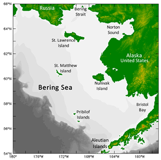 Bering Sea map