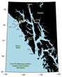 Eastern Gulf of Alaska mooring map