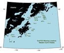 Western Gulf of Alaska mooring map